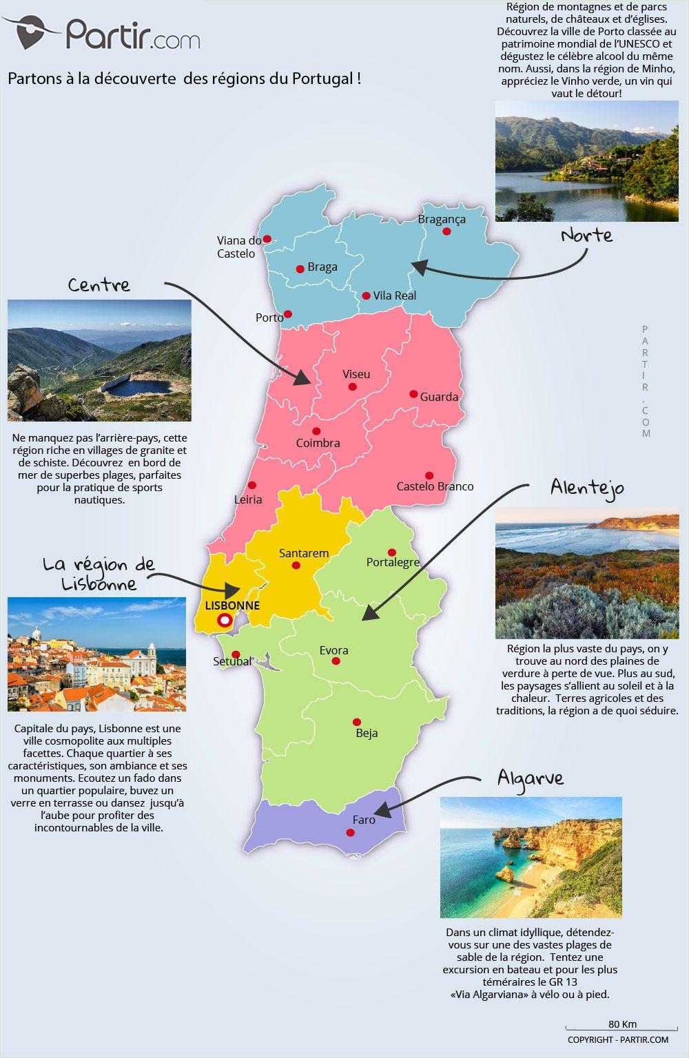 Profitez D Un Apercu Des Cinq Regions Touristiques Du Portugal Avec Notre Carte Gratuite Des Regions Du Portug Carte Portugal Voyage Portugal Carte Touristique