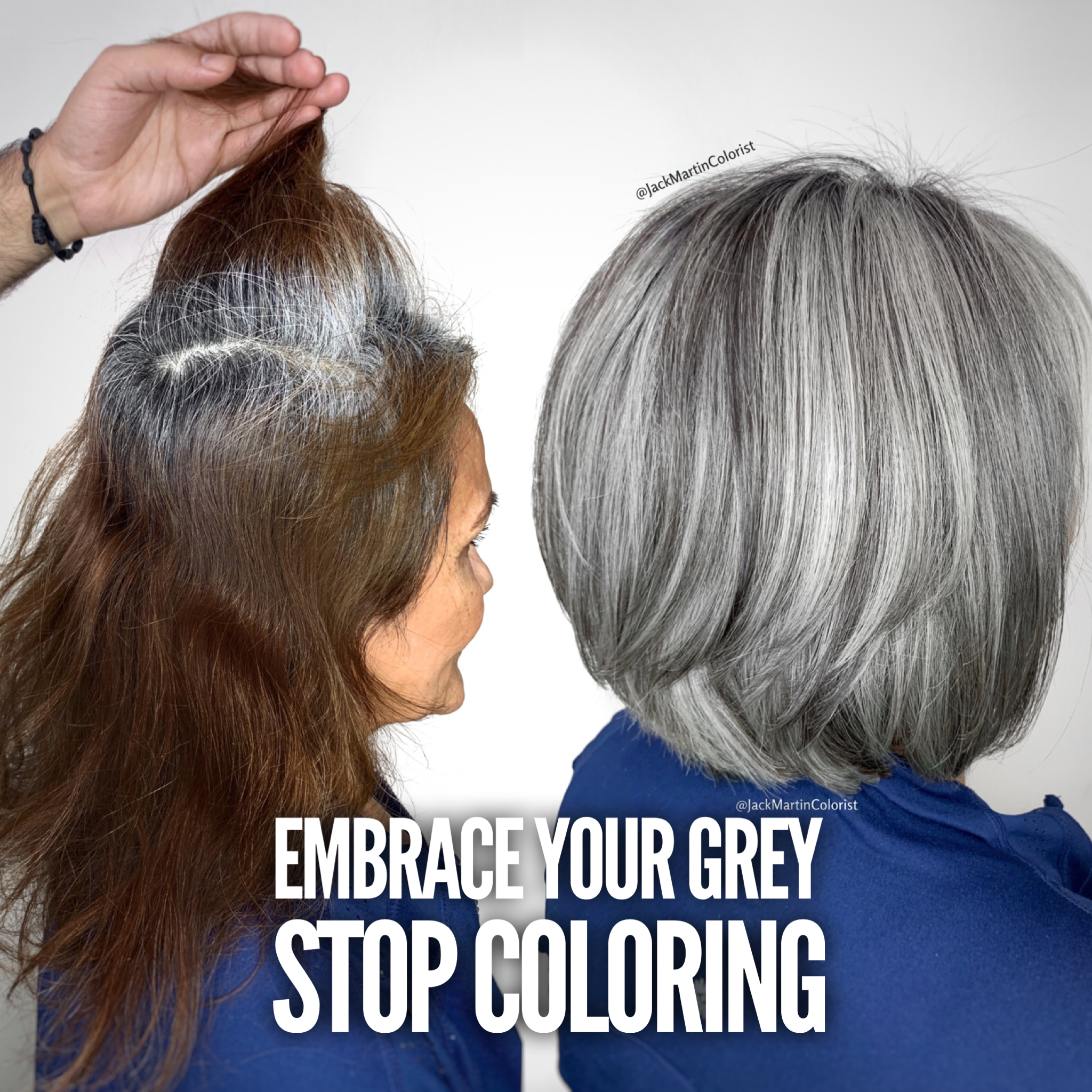 Coloring hair stop gray How to