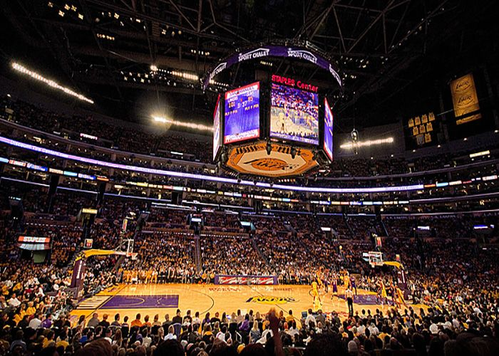 Get Lakers Tickets From Courtside To Get In S At The Staples Center Want The Best Deals On Laker Tickets Lakers Stadium Los Angeles Basketball Court Flooring