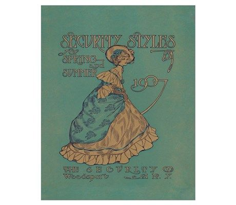 Security Styles Vintage Ad Art Poster at CafePress