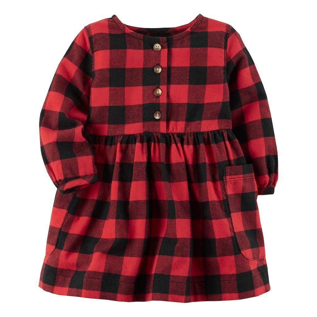 7baf61d3d03 Baby Girl Carter s Buffalo Checkered Dress