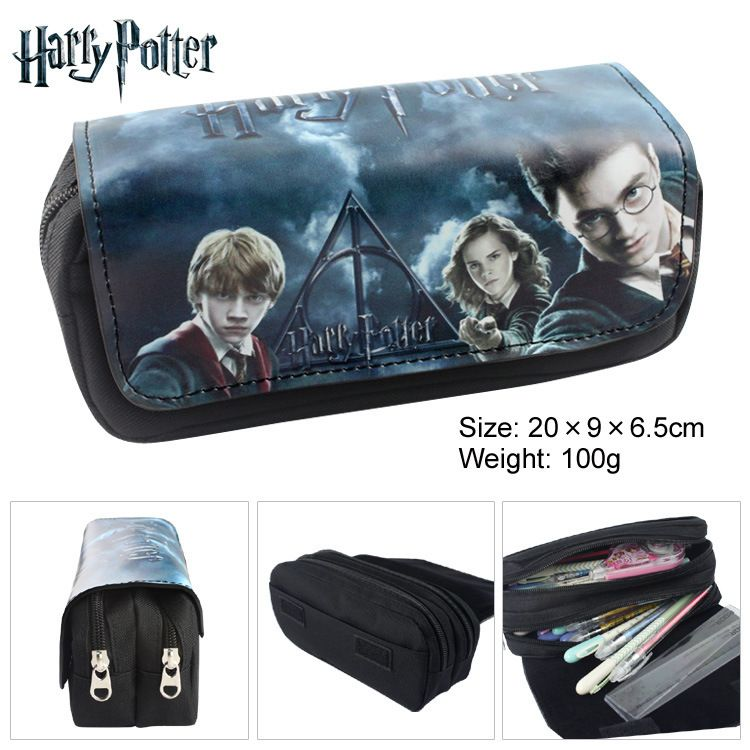 Slytherin House Crest Potter Sunglass Case Zipper Bag Pouch