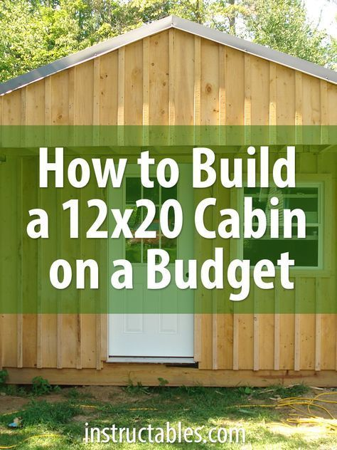 Bon More Economical Than Buy A Prefab Storage Shed. The Total Cost For This  Cabin Is