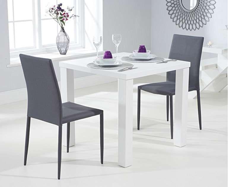 atlanta 80cm white high gloss dining table with atlanta