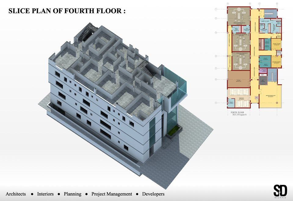 Hospital Building Design By Shoaib Tahir Design Works Naseem Rafiq Memorial Hospital Hospital Design Architecture Building Design Hospital Design