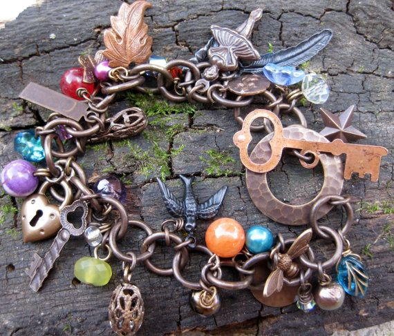 I want!  Favorite Things Charm Bracelet by TinyYellowKeyDesigns on Etsy, $38.00