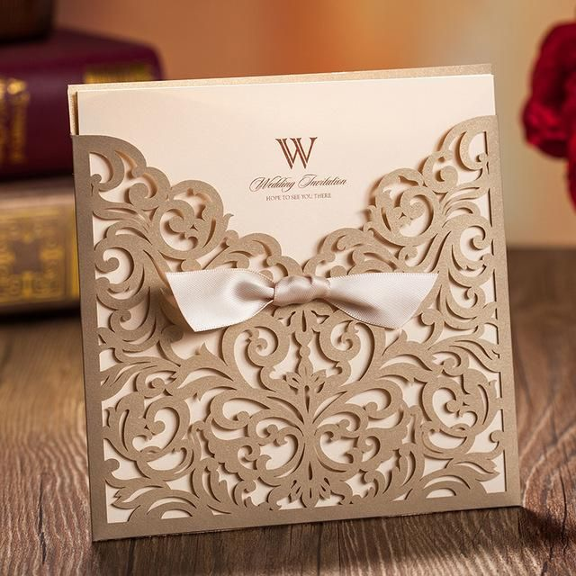 Laser Cut Wedding Invitations Bow Gold Hollow Invitation Card For Party Supply Free Printing Black And Red Wedding Invitations Celtic Wedding Invitations From Imonolisa, $64.93| Dhgate.Com