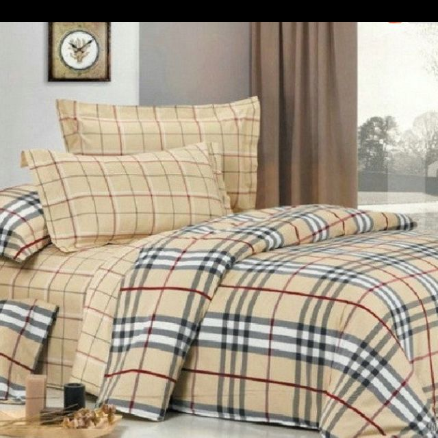 burberry bed sheets love for the home pinterest draps de lit housse de couette et lit. Black Bedroom Furniture Sets. Home Design Ideas