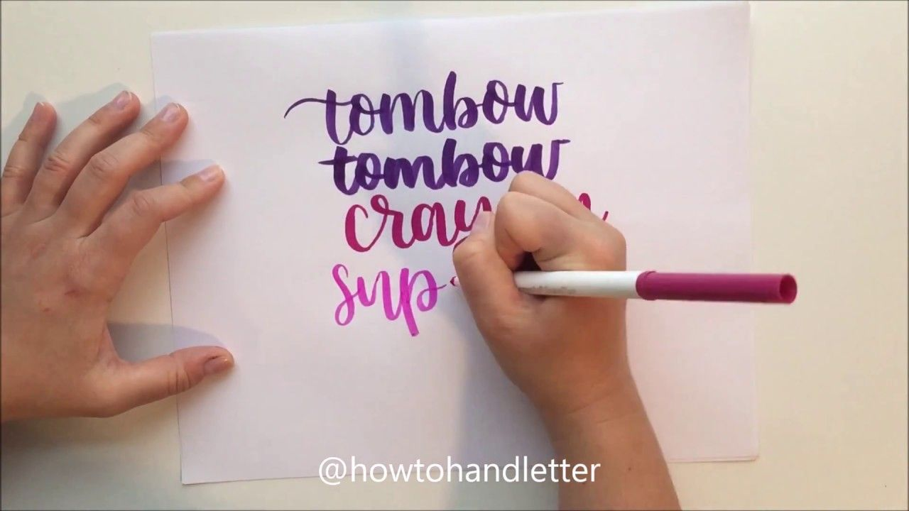 Easy and cheap hand lettering for beginners using crayola