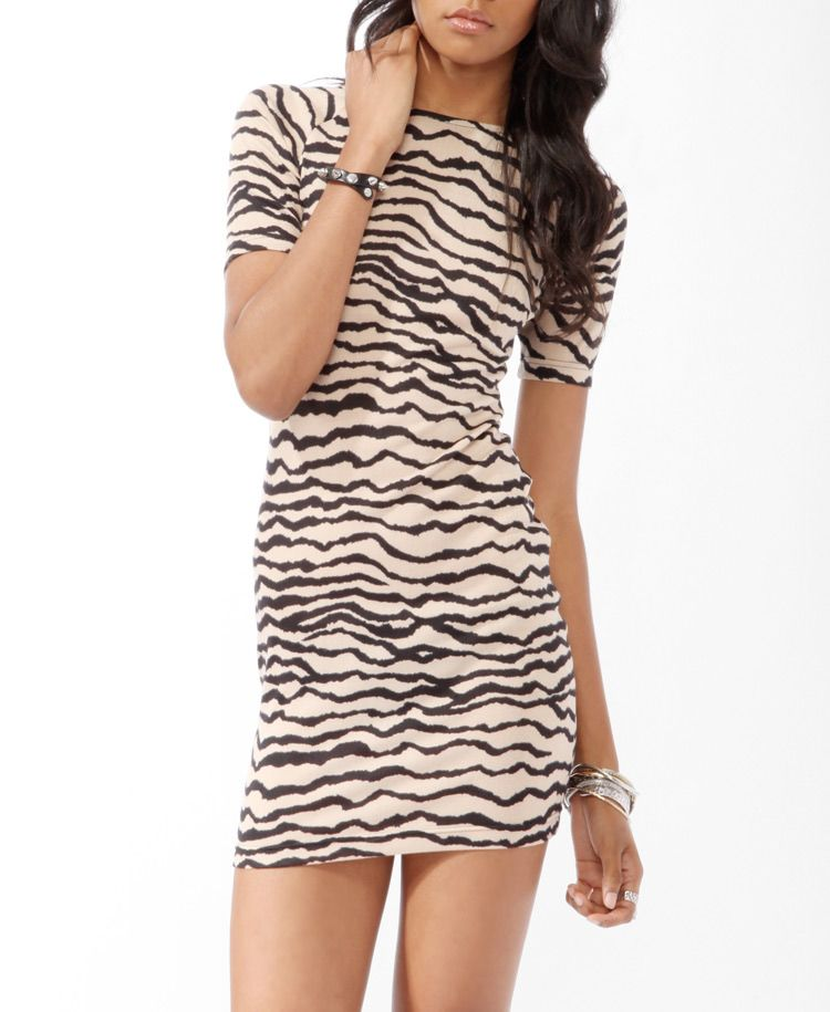 78bb1ba7a0 Animal Print Sweater Dress