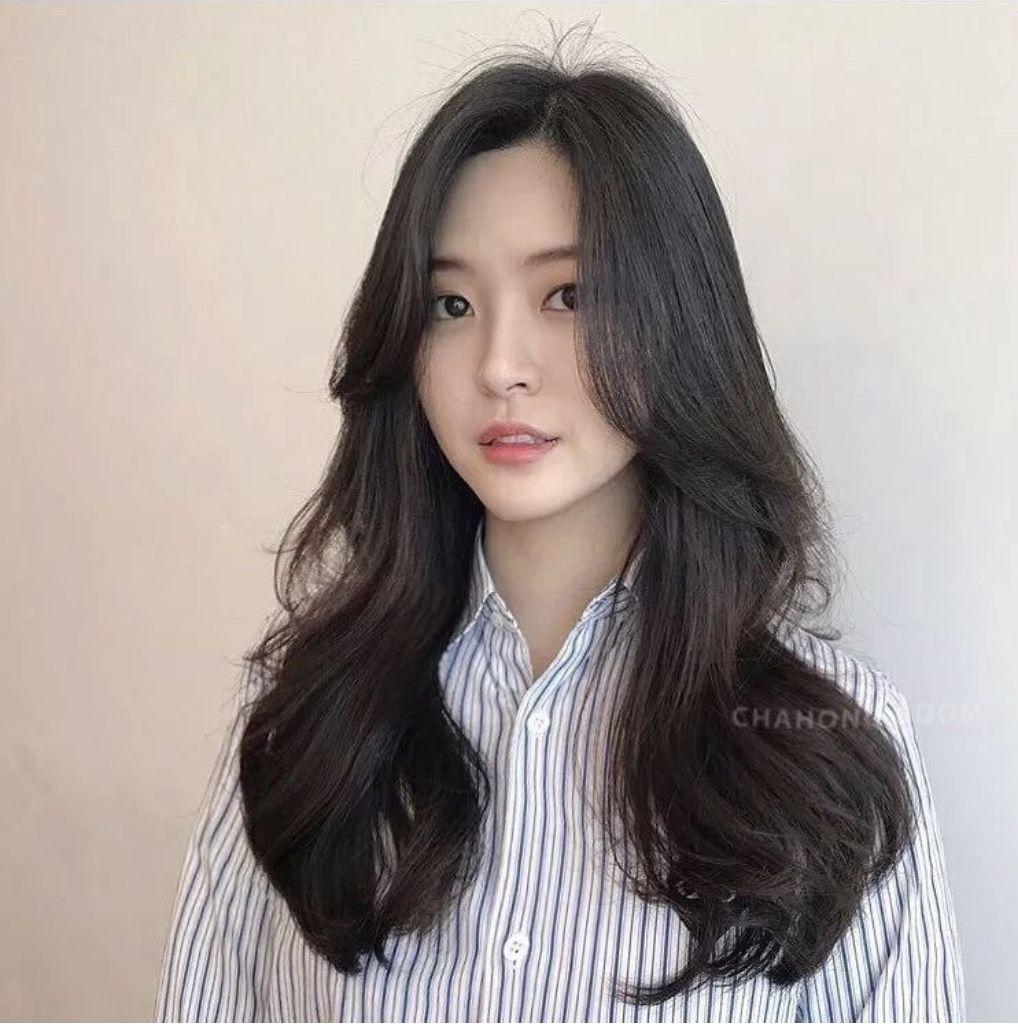 Curtain Bangs Straight Hair Asian