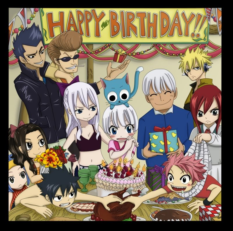 fairy tail bday (With images) Fairy tail anime, Fairy