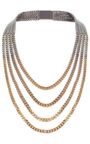 Karen Millen Multi chain ombre necklace