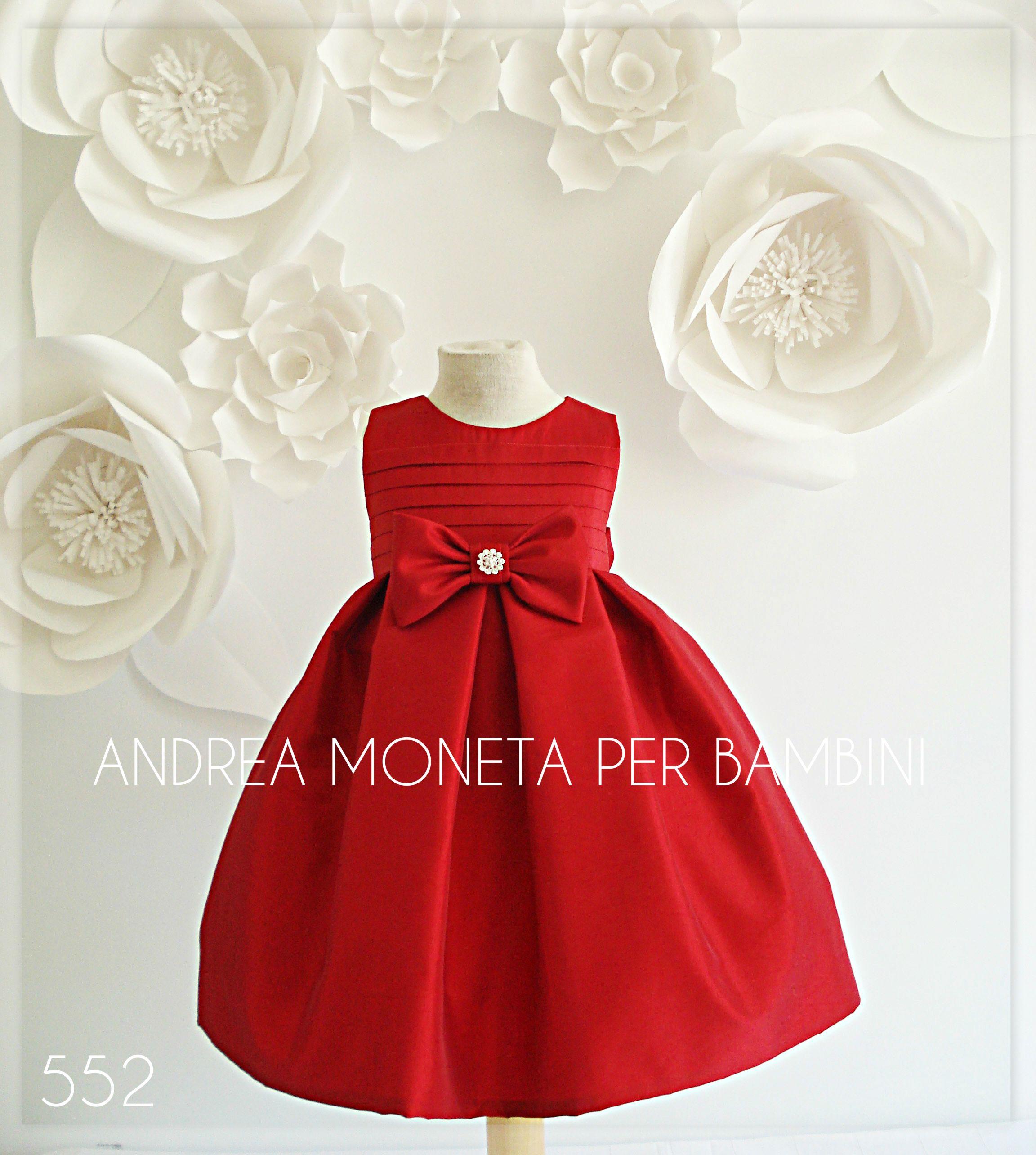 Hermoso vestido rojo fiesta bautizo boda bebe niña bautismo andrea ...