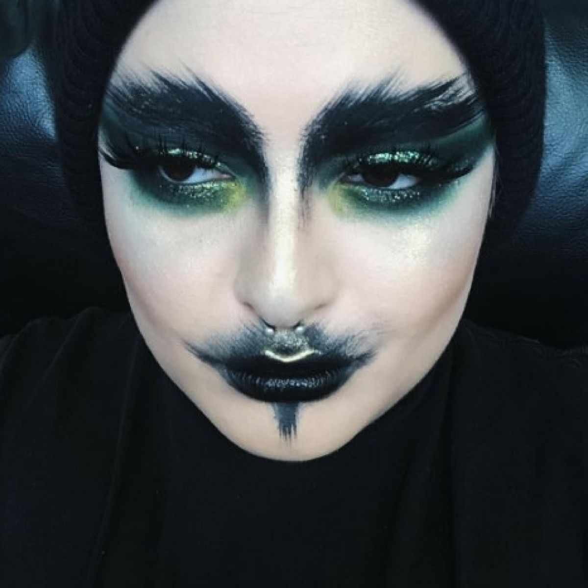 Succuvus is a well-known makeup mogul on Instagram with thousands of followers who are drawn to her eerie, cult-like style. Her real name? Anna Regaldo, an L.A. based artist who embraces both religious and satanic themes in her creations. More: http://blog.furlesscosmetics.com/anna-regaldo/