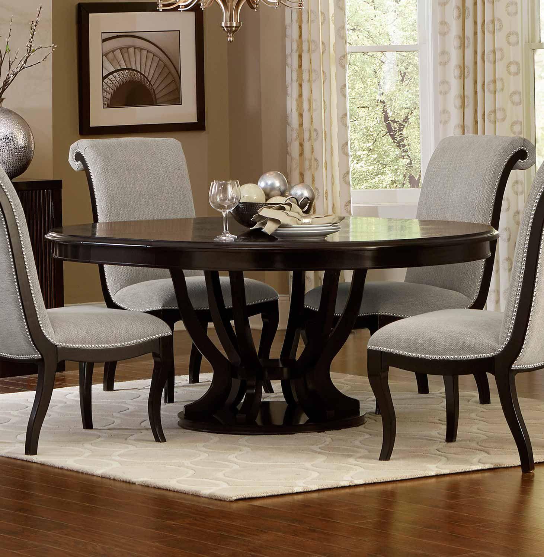Homelegance Savion Round Oval Dining Set Espresso In 2020