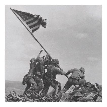 Raising The Flag On Iwo Jima Panel Wall Art Zazzle Com Marine Corps History Iwo Battle Of Iwo Jima