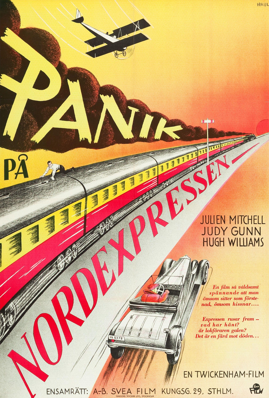 The Last Journey aka Panik på Nordexpressen (1936) Swedish poster