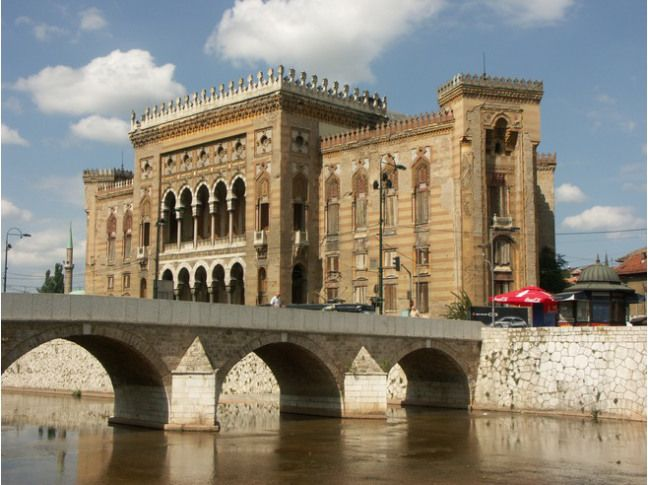 *National Library of Bosnia, Sarajevo Ett bibliotek utan böcker
