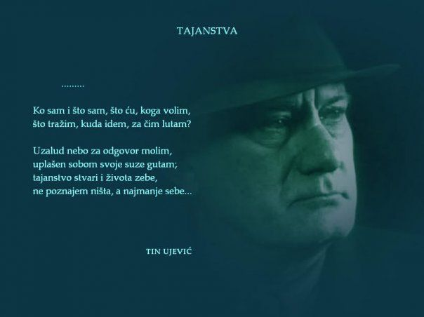 Tin Ujevic Literary Quotes Literature Quotes Poetic Quote
