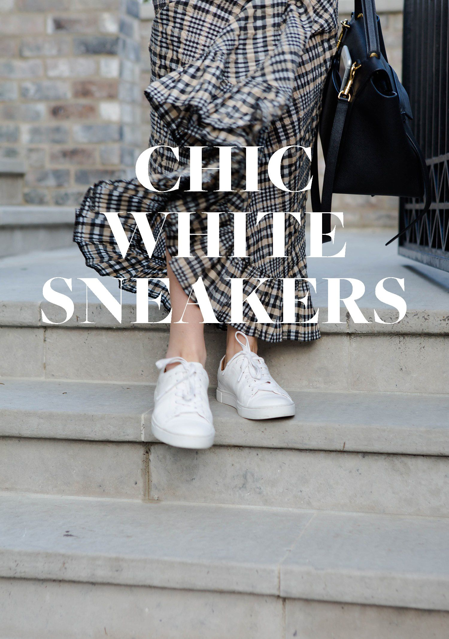 Chic white sneakers that are both comfortable and sleek ontheblog