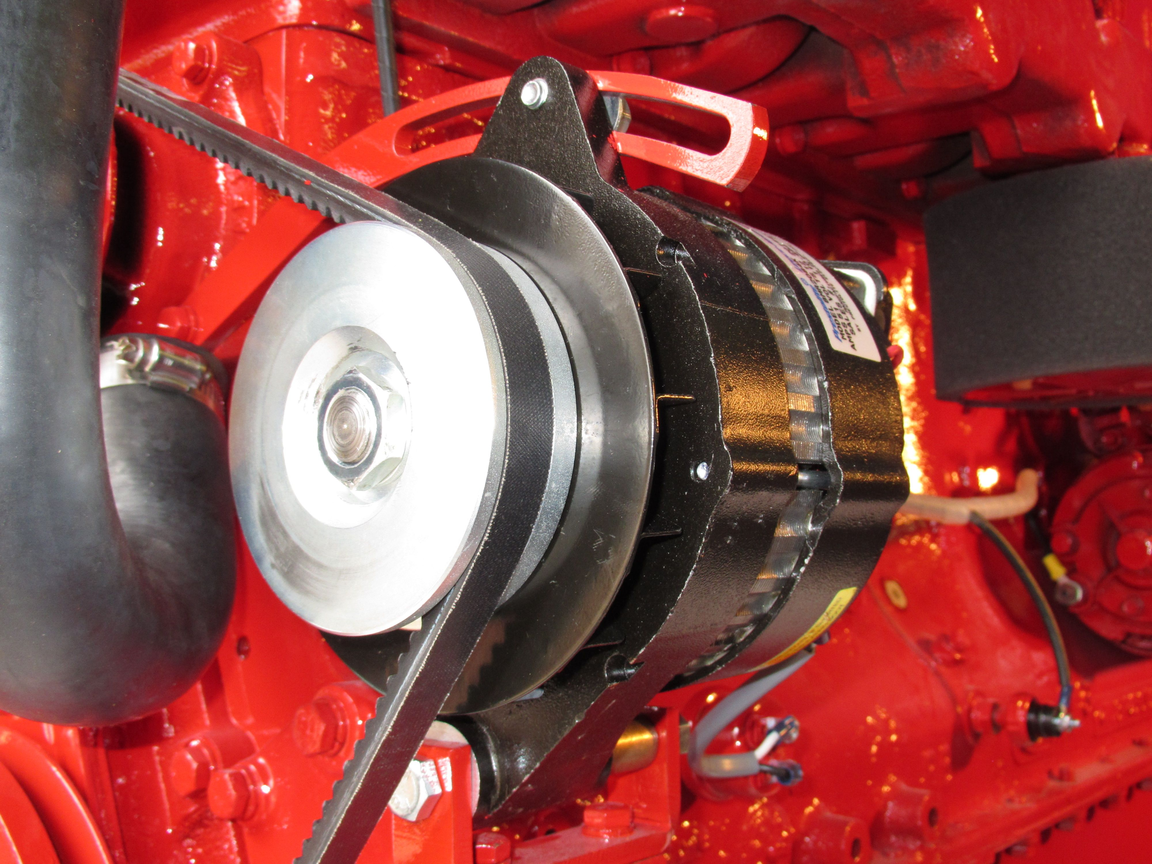 Lehman Ford Standard Alternator Kit Part Number 510 0551 Uses A Internal Regulator Prestolite 51 Amp With This Unit Is Energized By Engine Oil