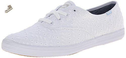 977c1d1f67c22 Keds Women's Champion Eyelet Seasonal Solid White Sneaker 10 B ...