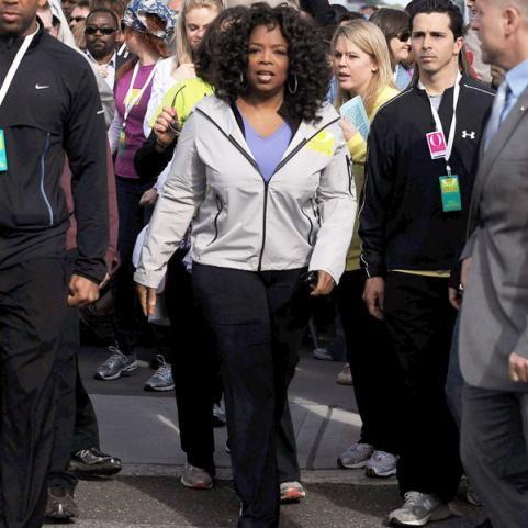 Celeb Marathon Runner: Oprah  In 1994, Oprah Winfrey set a goal for herself: run and finish a marathon before her 40th birthday.