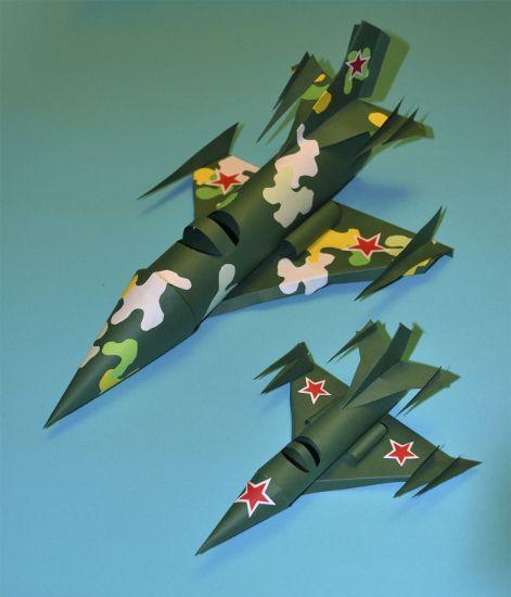 Военные самолеты из бумаги | Квиллинг 3d, Детские поделки ...