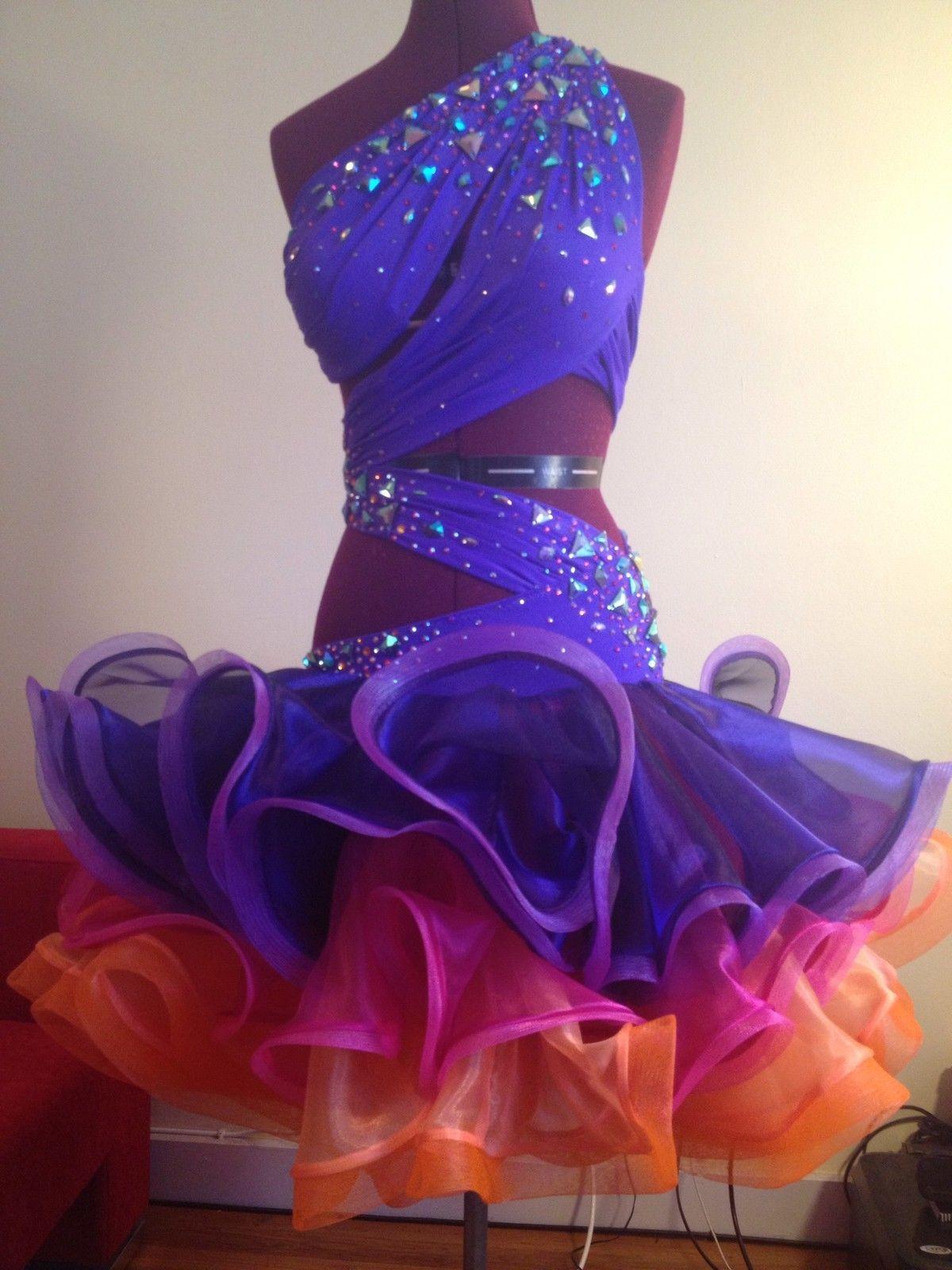 Latin Ballroom Dress | eBay | trajes de baile | Pinterest | Baile ...