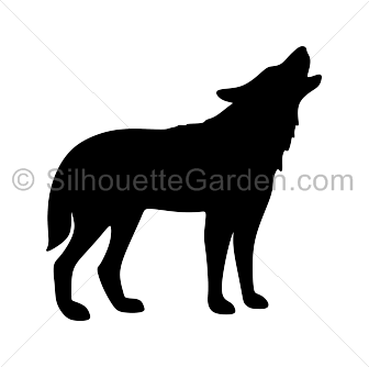 Howling Wolf Silhouette Wolf Silhouette Halloween Canvas Paintings Wolf Images