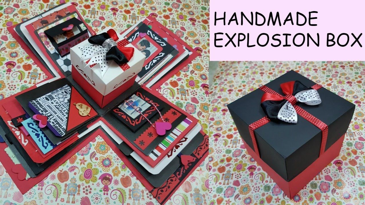 Gift idea/Explosion Box for friend/surprize box/birthday