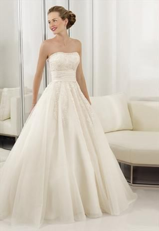 Tailor made lace organza off white Wedding Dress- byExpress | Ideas ...