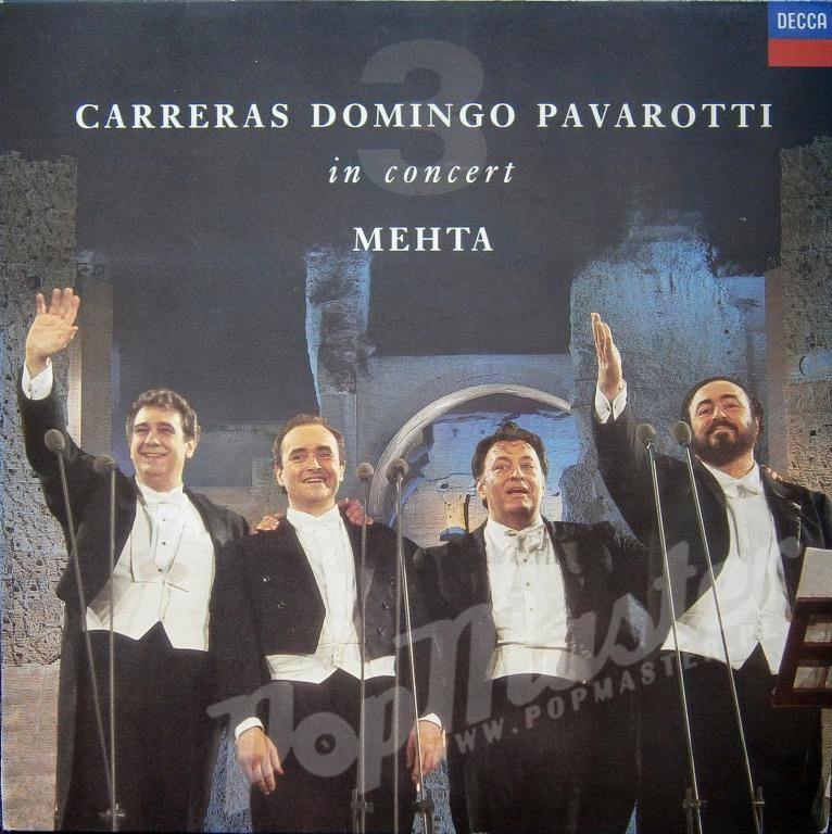 Carreras Domingo Pavarotti In Concert Mehta 430 43 Domingo