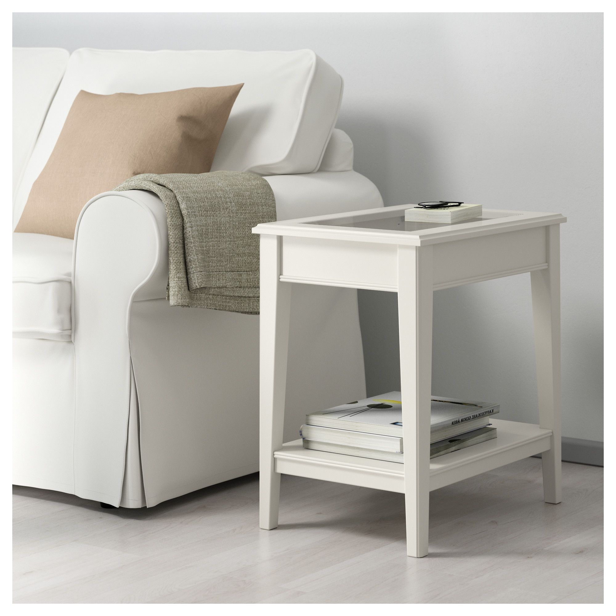 Liatorp Beistelltisch Weiss Glas Ikea Osterreich Ikea Side Table White Side Tables Liatorp