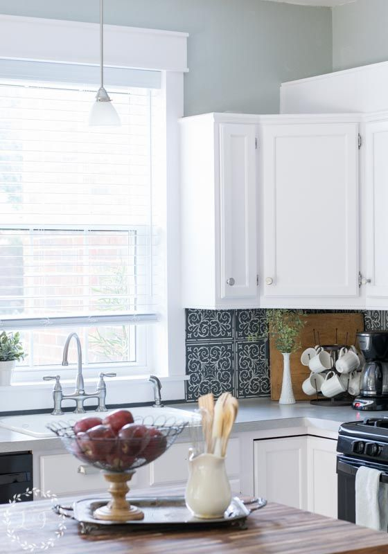 DIY Interior Window Trim and Kitchen Makeover Reveal