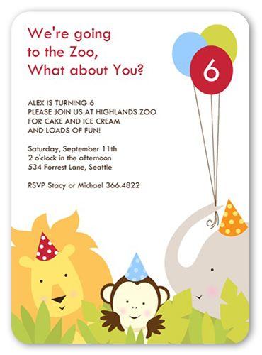 Party animals 5x7 invitation card birthday invitations party animals 5x7 invitation card birthday invitations shutterfly stopboris Gallery