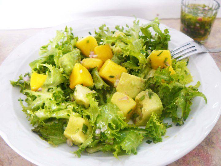Ensalada de mango aguacate y lechuga yummy pinterest - Comidas vegetarianas ricas ...