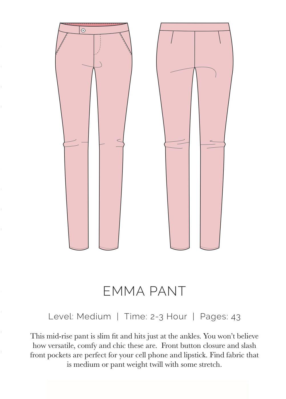 Spit up & stilettos Free pattern ! Emma pant | sewing | Pinterest ...