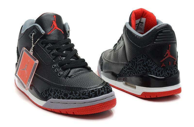 sportswear Jordan 3 black grey basketball shoes