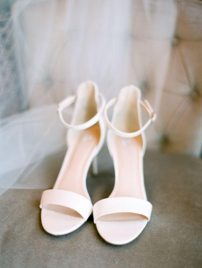 Classic white strappy wedding sandals: http://www.stylemepretty.com/california-weddings/santa-margarita/2015/12/28/romantic-rustic-spanish-oaks-ranch-wedding/ | Photography: Jen Rodriguez - http://www.jen-rodriguez.com/