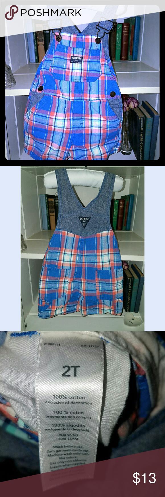 Oshkosh Overalls! Adorable overalls!! Size 2T- 100% cotton  🔥BUNDLE&SAVE🔥PERFECT CONDITION! Osh Kosh One Pieces