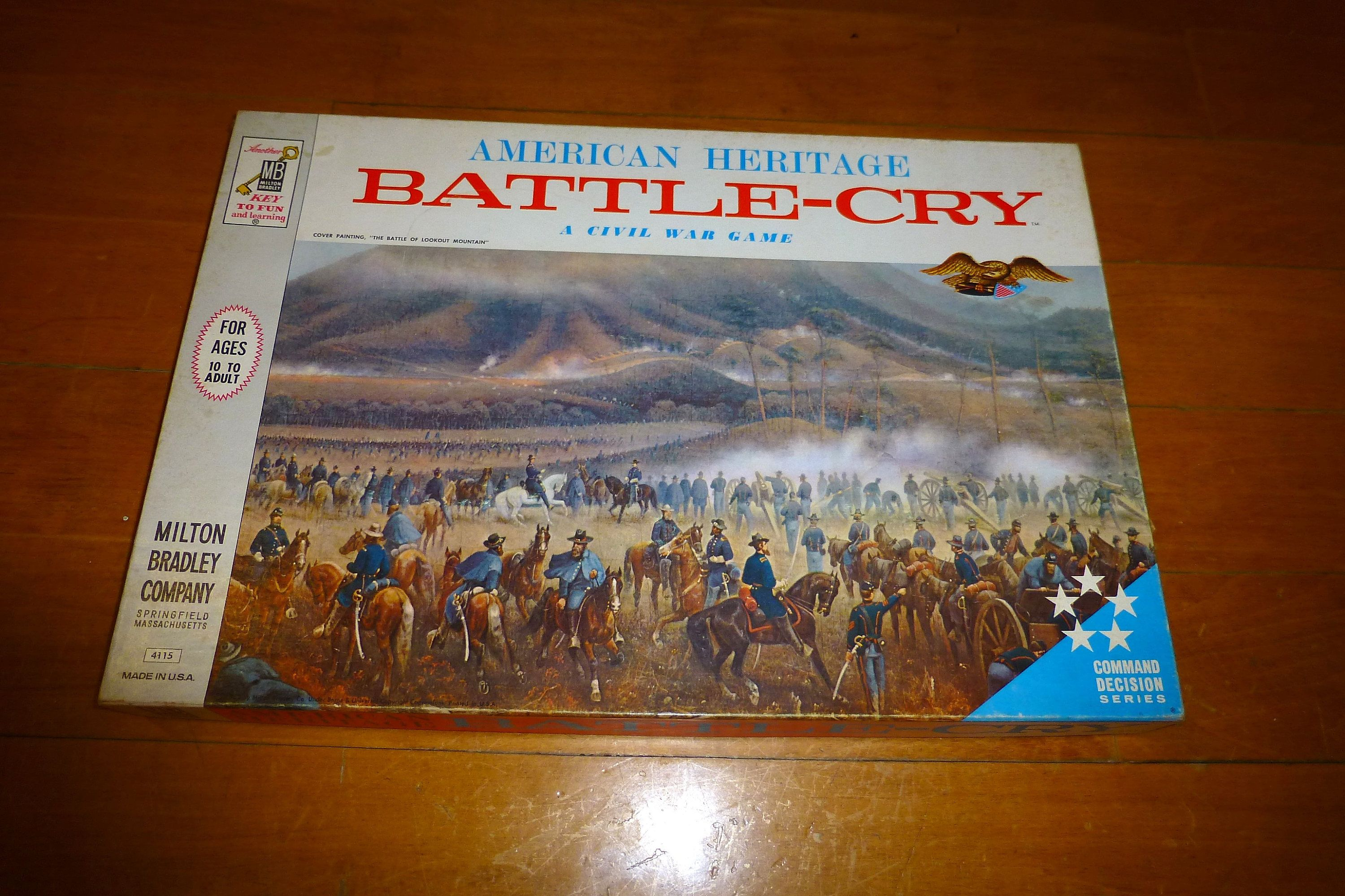 Civil war game American heritage battle cry old milton