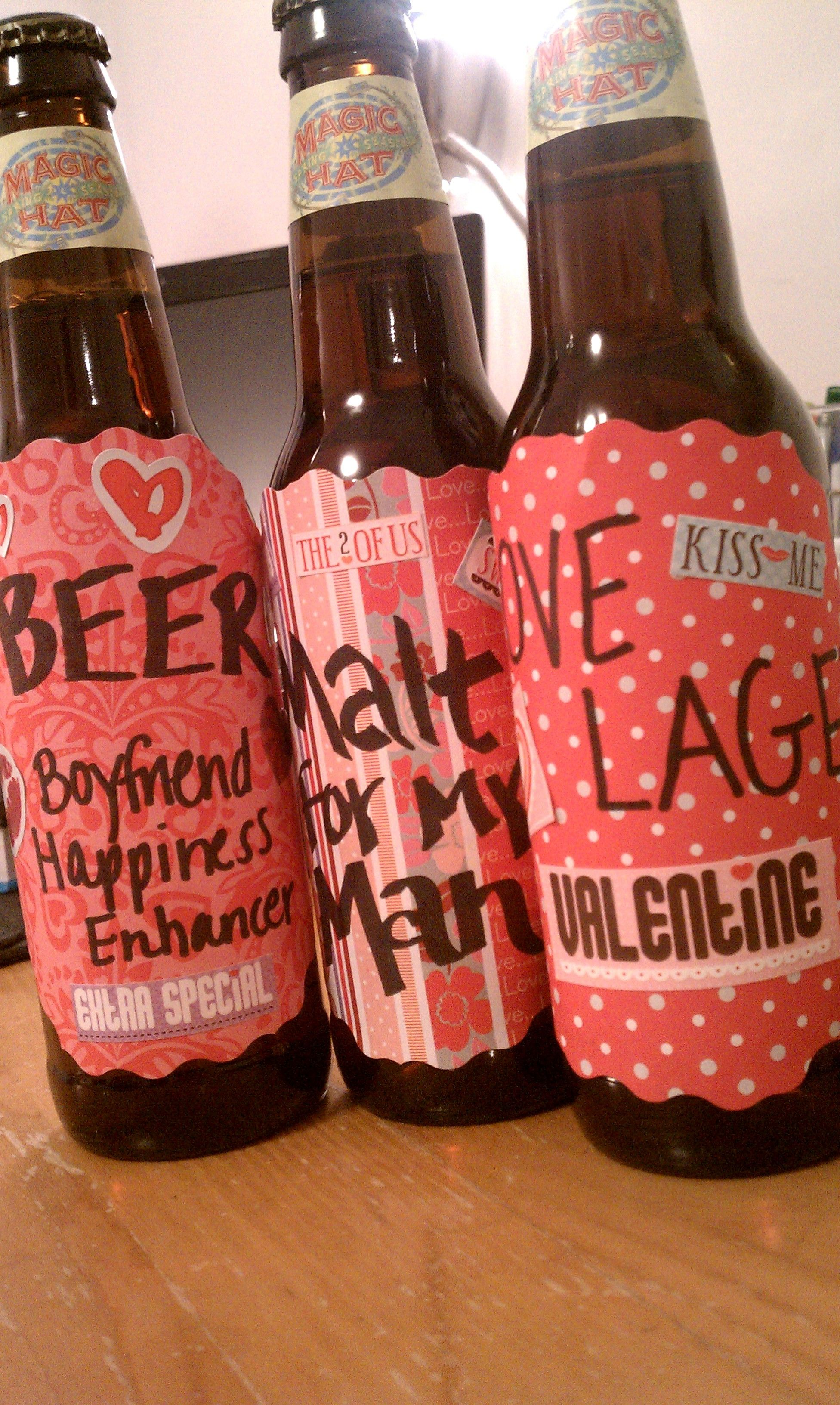 DIY Valentine's Day Gift: Customized Beer Bottles ...