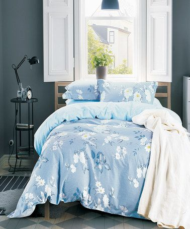 Light Blue Eve Comforter Set Zulily Zulilyfinds Blue Bedding