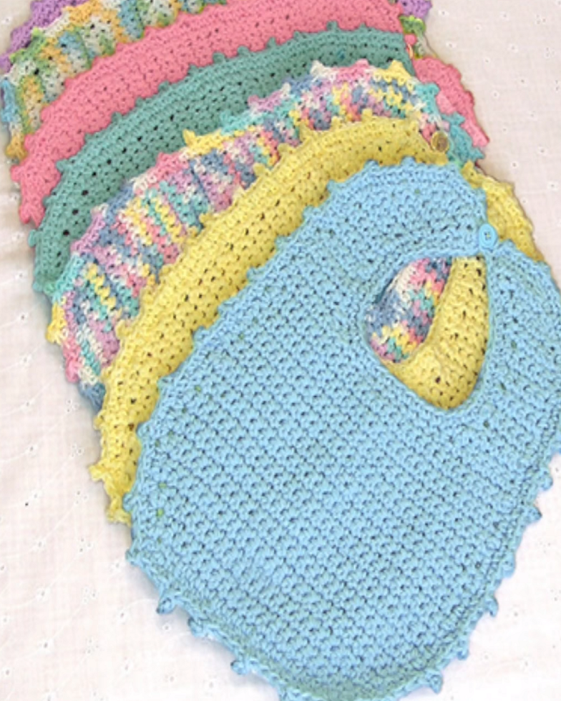 Crochet Bib Newborn – 6 Months + Tutorial | for baby | Pinterest ...