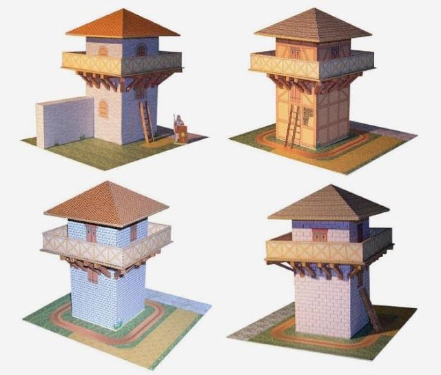 PAPERMAU: Roman Watchtowers Paper Models For Dioramas, RPG And Wargames - by Hans-Dieter Richter