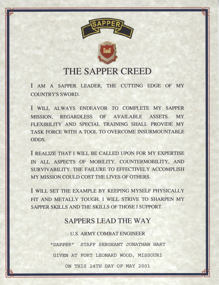 Sapper Creed Combat Engineer My Hero My Brother The Sapper Bronze Star With Valor Lucky To Be Alive Love You Littl Military Awards Certs Military Memes
