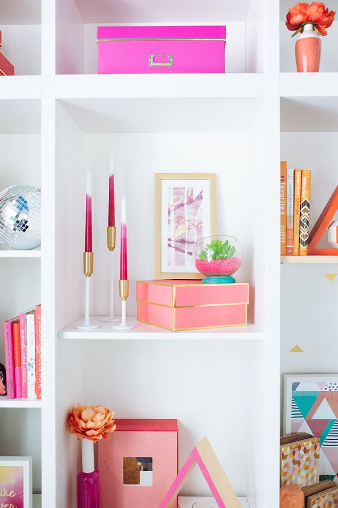 The Austin Abode That Will Make You Want To Add More Color To Your Home Asap Decor Pink Shelves Home Decor