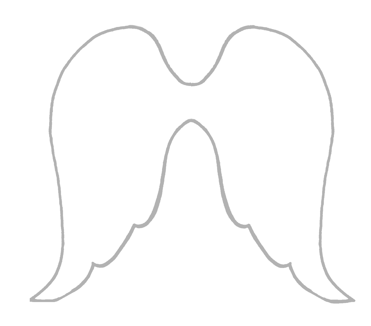 Adorable image in angel wing templates printable